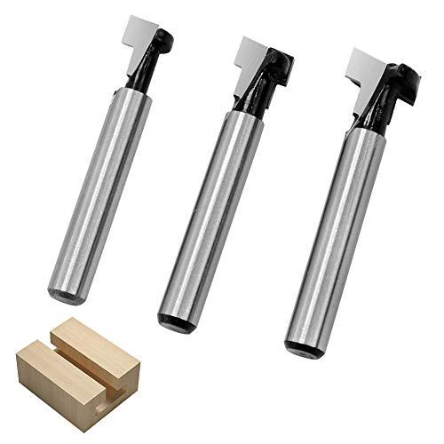 HZ 3T-1 1/4 Zoll Schaft T-Nutfräser Hartmetall T-Track Schlitz Holz Fräser Holzbearbeitung Werkzeug