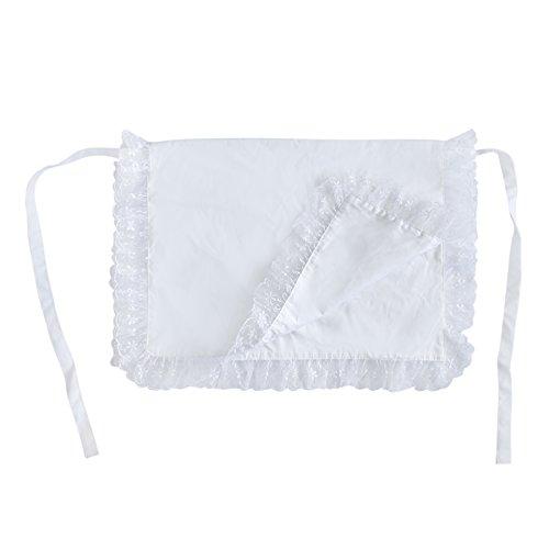 Aspire 4-Wege-Taille Schürze für Frauen Baumwolle Maid Spitze Taille Schürzen für Küche Kochen, baumwolle, weiß, M (4-wege-schürze)