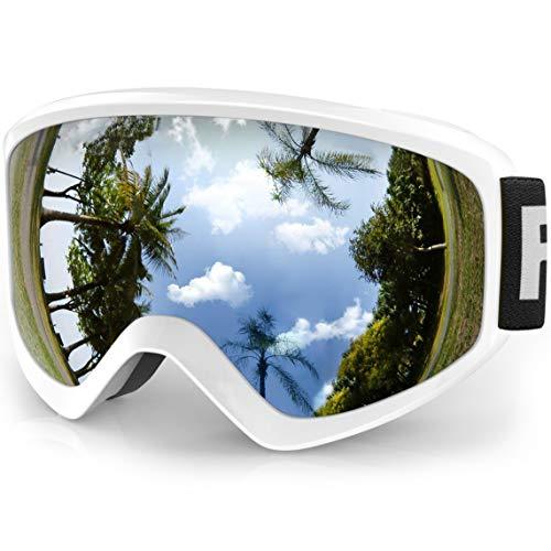 findway Skibrille Kinder, Snowboardbrille Helmkompatible Schneebrille Verspiegelt Snowboard Brille...