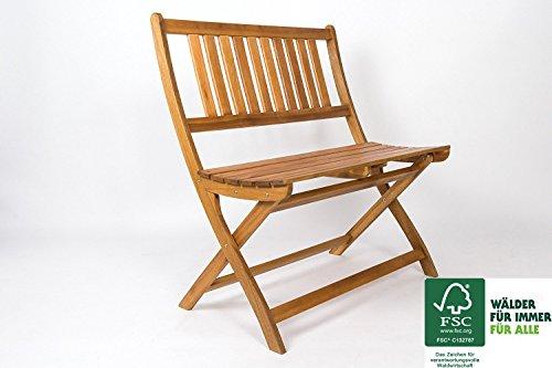 SAM Gartenbank Blossom, 80 cm, Sitzbank aus Akazienholz, klappbar, FSC zertifiziert