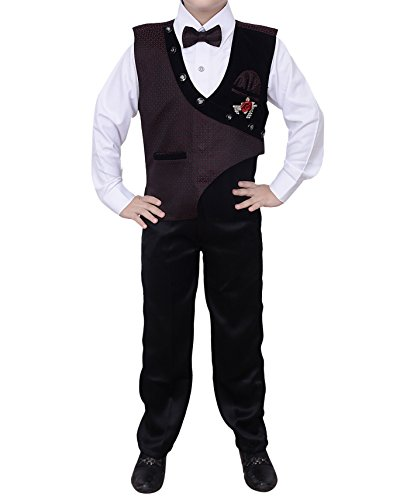 Arshia Fashions Boys Shirt Waistcoat and Pant Set Party wear - BY175