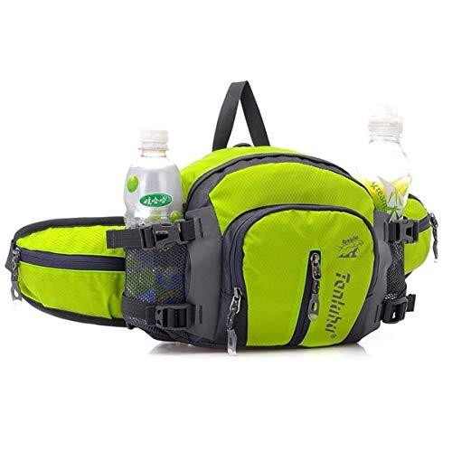 Outdoor peak Unisex Nylon wasserdicht Gürteltasche Multifunktions-Tasche Kameratasche Reiserucksack Kettle Paket Tagetasche mit Schultergurt Halstuch Fahrrad Bergsteigen(Grün) - Damen-kameratasche