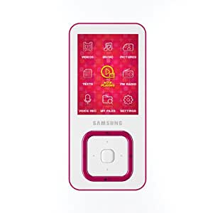 Samsung YP-Q3AW Q3 4GB MP3 with FM Radio and Video Player - Pink
