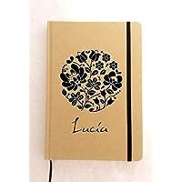 Libreta personalizada Tamaño A5. Circulo Floral.Varios acabados y colores.