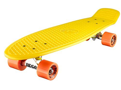 Ridge Skateboard Big Brother Nickel 69 cm Mini Cruiser, gelb/orange