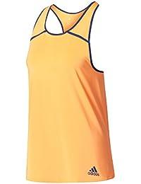 adidas Club BK0719 Camiseta de Tenis, mujer, Naranja (Glow Orange/ Mystery Blue
