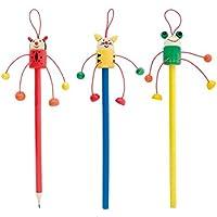 Lote de 20 Lapices Infantiles para Niños Animalitos - Lapiceros, lápiz infantiles con Diseños Originales