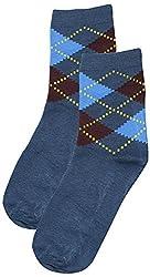 69th Avenue Mens Cotton Socks (Blue)