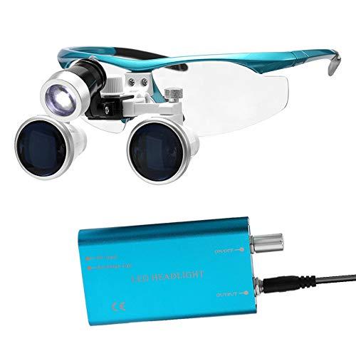 Tragbare LED-Scheinwerferlupe, 3.5X 420mm Chirurgische Medizinische Binokularlupen Optisches Glas Headset Lupen + 3W LED-Scheinwerfer