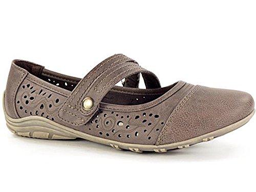 Foster Footwear , Mary Jane femme Marron foncé