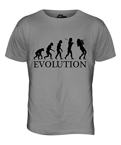 CandyMix Gesang Sänger Evolution Des Menschen Herren T Shirt Hellgrau