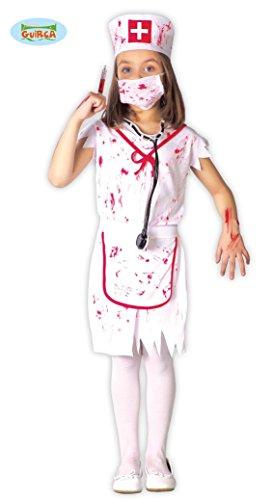Zombie Krankenschwester Mädchen Kostüm Gr. 110-146, Größe:128/134 (Zombie Krankenschwester Kostüm)