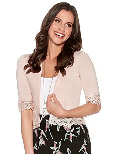 mco-ladies-fine-knit-short-sleeve-edge-to-edge-open-front-lace-trim-cover-up-cropped-cardigan-blush-