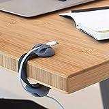 Wokee Kabelclips Kabelhalter, Schreibtisch Kabel Clips Organizer Management Mehrzweck Draht Halter USB Ladegeräte Vielzwecke Kabelführung Kabel Organizer Set für Schreibtisch