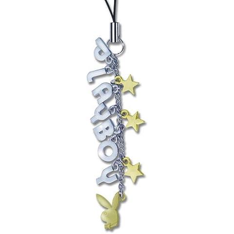 Donjuán encanto del teléfono texto, cabeza de conejo, (oro y plata) estrellas