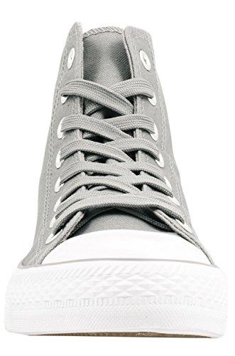 Elara Unisex Sneaker | Sportschuhe für Herren Damen | High Top Turnschuh Textil Schuhe 36-47 Grau State