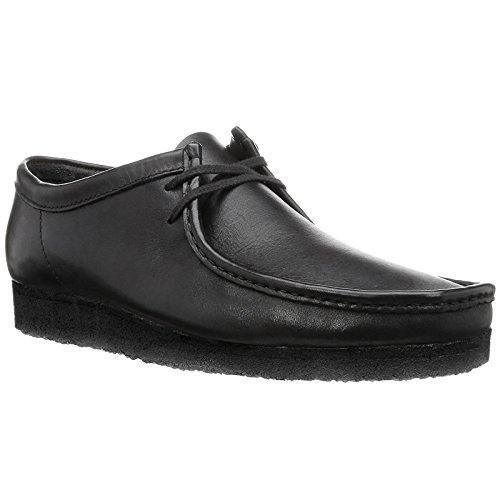 Clarks Originals Herren Wallabee Derbys, Schwarz (Black Leather-), 44.5 EU (Wallabees Clarks Herren)