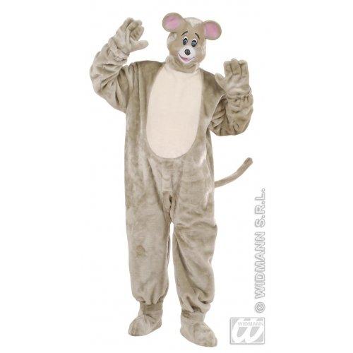 WIDMANN Herren-Kostüm aus Plüsch mit Maus für Tierdschungel