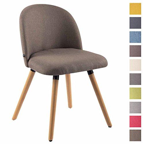 Clp sedia da pranzo nelson in tessuto – sedia design soggiorno imbottita e dotata di schienale i poltroncina salotto con telaio in legno di faggio i sedia da tavolo design nordico tortora natura