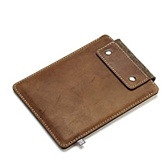 iPad-Huelle/Schutzhuelle (Leder/Wollfilz) 7,9″ 9,7″ 10,5″ 12,9″ Vintage Leder Wollfilz Handgefertigt Super Schutz