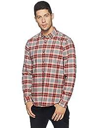 blackberrys Men's Checkered Slim Fit Casual Shirt