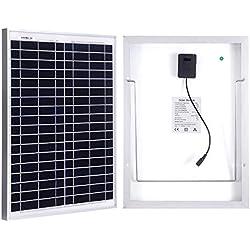 Betop-camp panneau solaire de 20W avec le câble de 5m et les agrafes d'alligator pour un camping-car, caravane, camping, bateau ou tout autre système de 12V