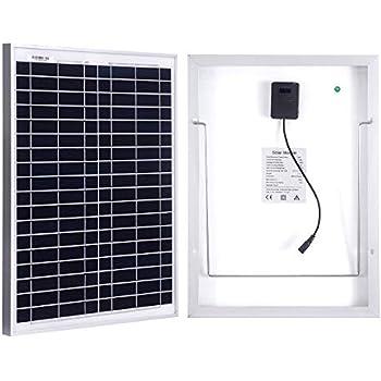20W Solarmodul MONO 12V Solarpanel mit hohem: Amazon.de