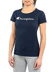 Champion, T-shirt Femme L bleu