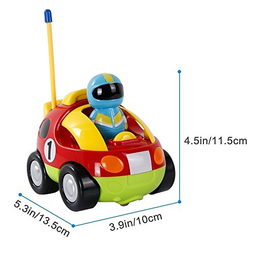 Toys For Baby Toddlers Kids Boys Learning RC Cartoon Racing Car 1 2 3 Year Old