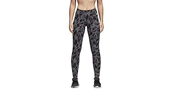adidas Legging Femme Gris GrisNoir Gris L: Amazon