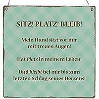 XL Holzschild EIN HUND IST EIN HERZ AUF VIER PFOTEN Tierisch Haustier Spruch