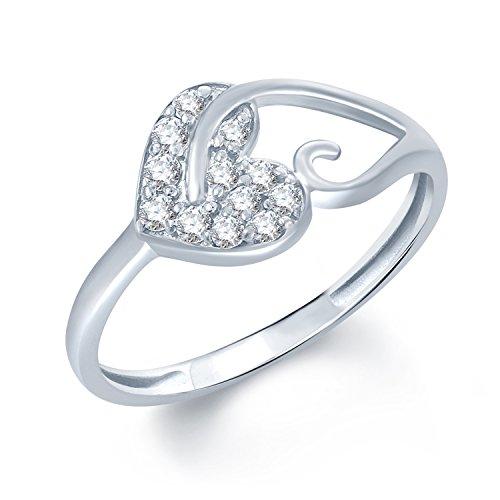V. K. Jewels Brass Ring For Women - Silver(Vkfr1012R10)