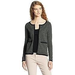 VERO MODA Women's Blazer (10175818_Dark Grey Melange_M)