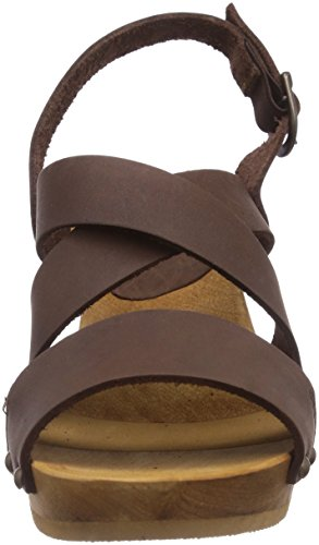 Sanita  Olympia Square Flex Sandal, Sandales Marron - Braun (antique brown 78)