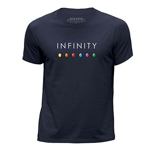 Stuff4® Jungen/Alter 12-14 (152-164cm)/Navy Blau/Rundhals T-Shirt/Infinity Gem Steine