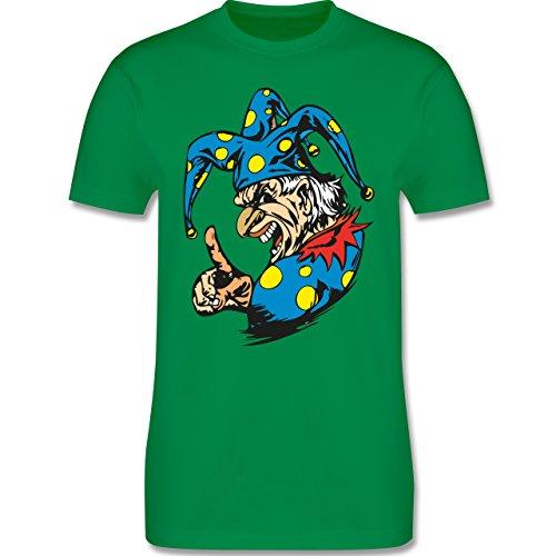 Karneval & Fasching - Clown - Grimasse - Herren Premium T-Shirt Grün