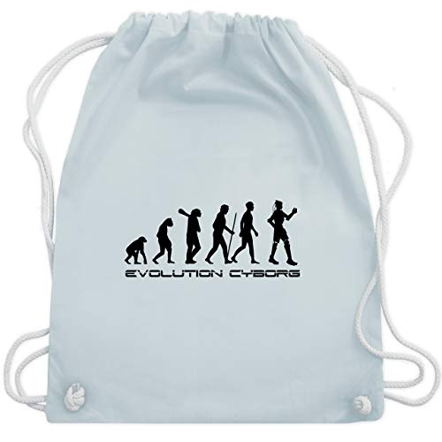 Evolution - Cyborg Evolution - Unisize - Pastell Blau - WM110 - Turnbeutel & Gym Bag