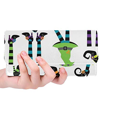 Einzigartige benutzerdefinierte süße Sammlung Hexen Füße Beine Frauen Trifold Wallet Lange Geldbörse Kreditkarteninhaber Fall Handtasche -