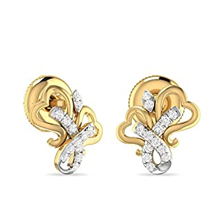 PC Jeweller The Boaz 18KT Yellow Gold and Diamond Stud Earrings for Women