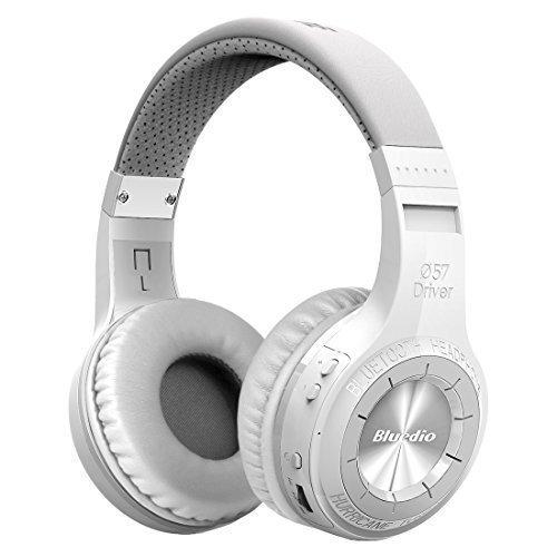Bluedio H-Turbine Bluetooth stéréo Casque Casque sans fil microphone inséré BT4.1 casque basse puissant jouir de votre musique Circum-Auriculaire casque - Emballage détaillant Publication mondiale.(Blanc)