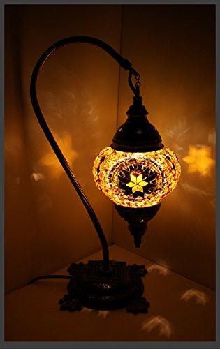 Gold-mosaik-tisch-lampe (Mosaiklampe Mosaik - Stehlampe M Tischlampe orientalische lampe Gold-Stern Samarkand-Lights)