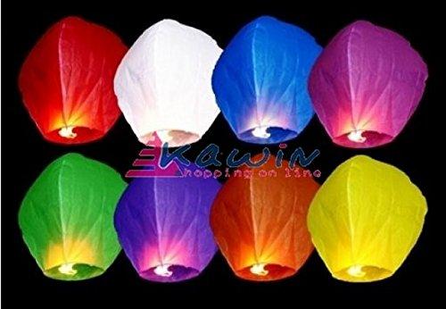 20 Farolillos Volantes Colores Mixtos