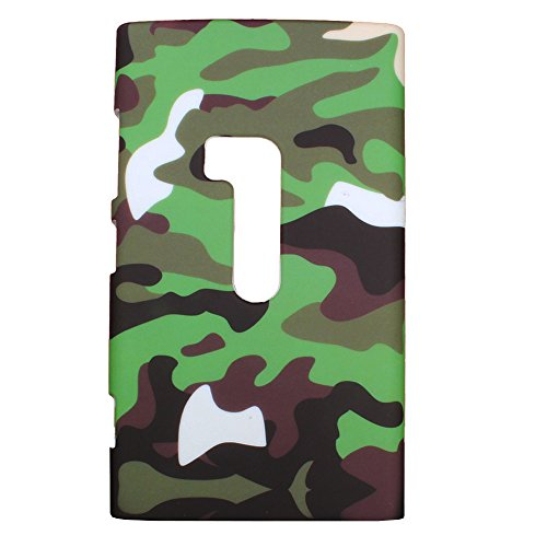 Heartly Army Style Retro Color Armor Hybrid Hard Bumper Back Case Cover For Nokia Lumia 920 - Army Green  available at amazon for Rs.149