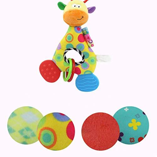Imagen para Newin Star Peluche Muñeca con mordedor,campanas de cascabel mordedor muñeca para recién nacidos niñas y niños sin BPA muñeca felpa de bebé(jirafa)