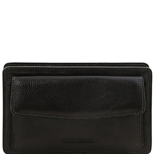 Tuscany Leather Denis - Esclusivo borsello a mano in pelle - TL141445 (Nero) Nero