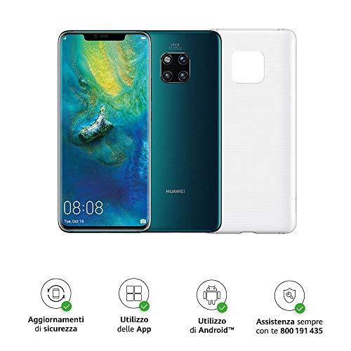 """Huawei Mate 20 Pro (Green) più Cover Originale, Telefono con 128 GB, Display Oled 6.39"""" QHD+, Processore Octa Core dinamico con Intelligenza Artificiale [Versione Italiana]"""