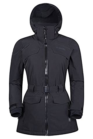 Mountain Warehouse Heuz Women's Extreme Ski Jacket - Breathable, Waterproof, Taped Seams ISODRY Fabric, Adjustable (Giacca Con Cappuccio Pista)