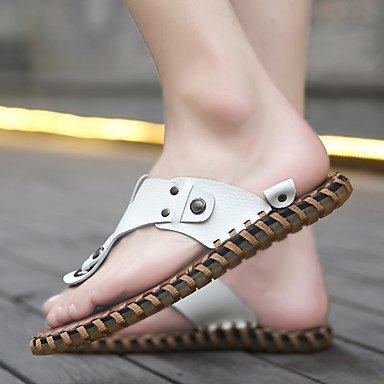 Uomo Slippers & Estate Comfort Light Suole PU casual Giallo Nero sandali bianchi sandali US8 / EU40 / UK7 / CN41