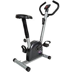 TecTake Maquina fitness bicicleta estatica | con monitor y pulsómetro