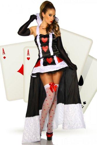 Alice im Wunderland-Kostüm - schwarz/wei�/rot - S-M
